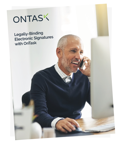 legally-binding electronic signatures with OnTask white paper